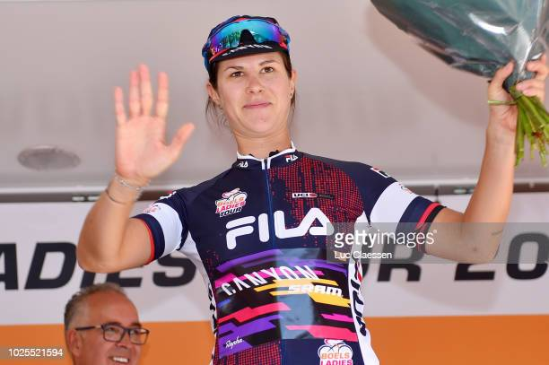 Podium / Elena Cecchini of Italy and Team Canyon-Sram Racing blue Sprint Jersey / Celebration / during the 21st Boels Rental Ladies Tour 2018, Stage...