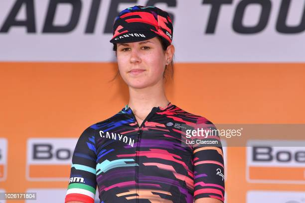 Podium / Elena Cecchini of Italy and Team Canyon-Sram Racing / Celebration / during the 21st Boels Rental Ladies Tour 2018, Stage 6 a 18,6km...