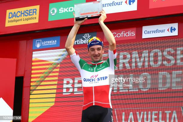 Podium / Elia Viviani of Italy and Team Quick-Step Floors Celebration / during the 73rd Tour of Spain 2018, Stage 10 a 177km stage from Salamanca....