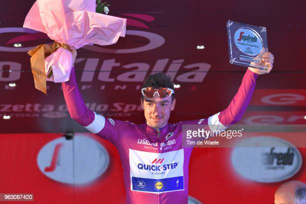 Podium / Elia Viviani of Italy and Team Quick-Step Floors Purple Points Jersey / Celebration / during the 101st Tour of Italy 2018, Stage 21 a 115km...