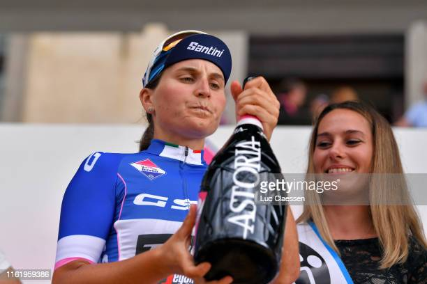 Podium / Elisa Longo Borghini of Italy and Team Trek- Segafredo Blue Best Italian Rider Jersey / Celebration / Champagne / during the 30th Tour of...