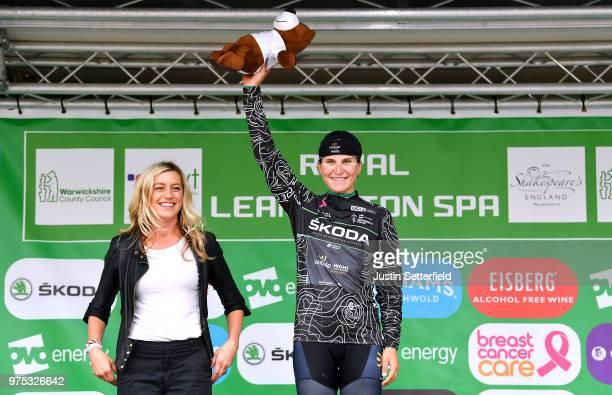 Podium / Elisa Longo Borghini of Italy and Team Wiggle High5 Black Mountain Jersey / Celebration / during the 5th OVO Energy Women's Tour 2018, Stage...
