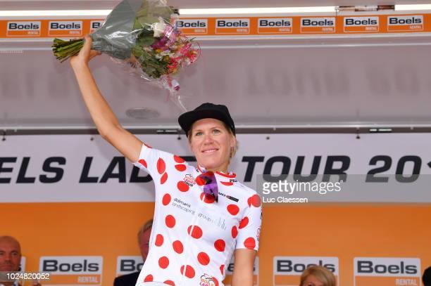Podium / Ellen Van Dijk of Netherlands and Team Sunweb / Polka dot Mountain jersey Celebration / during the 21st Boels Rental Ladies Tour 2018,...
