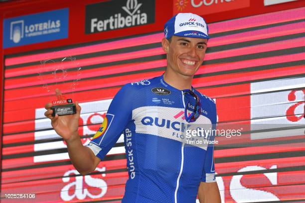 Podium / Enric Mas of Spain and Team QuickStep Floors Best Young Rider Celebration / during the 73rd Tour of Spain 2018 Stage 6 a 1557km stage from...