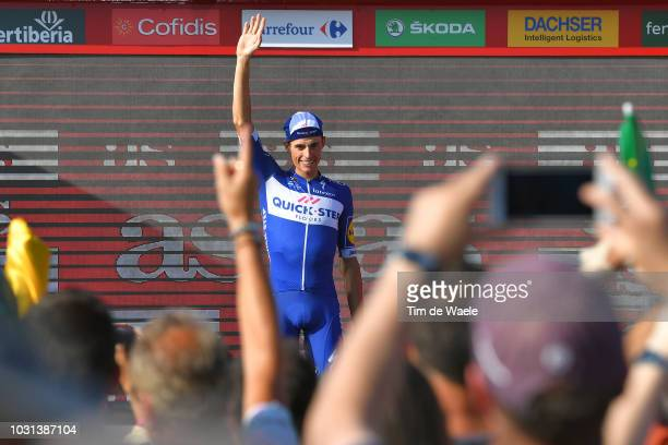 Podium / Enric Mas of Spain and Team QuickStep Floors Best Young Rider / Celebration / Fans / Public / during the 73rd Tour of Spain 2018 Stage 16 a...