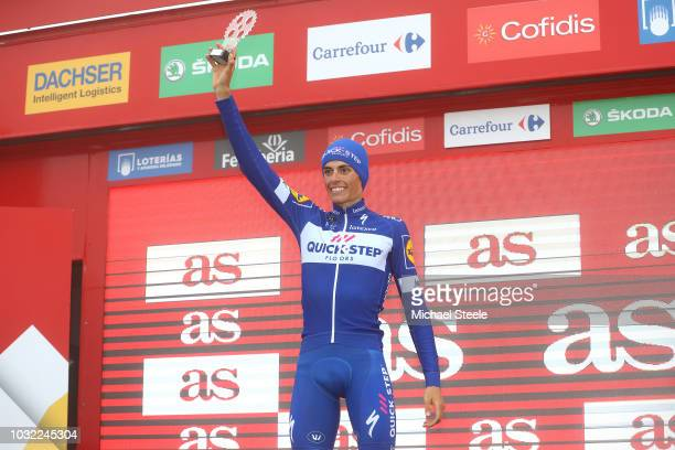Podium / Enric Mas of Spain and Team QuickStep Floors Best Young Rider Celebration / during the 73rd Tour of Spain 2018 Stage 17 a 157km stage from...