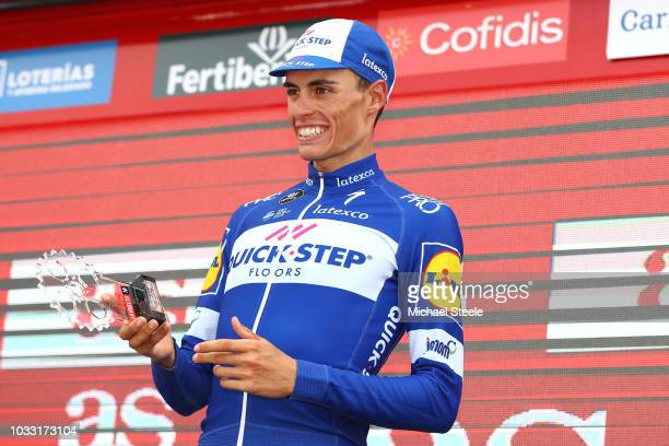 Podium / Enric Mas of Spain and Team QuickStep Floors Best Young Rider / Celebration / during the 73rd Tour of Spain 2018 Stage 19 a 1544km stage...