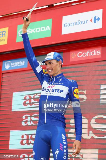 Podium / Enric Mas of Spain and Team Quick-Step Floors Best Young Rider / Celebration / during the 73rd Tour of Spain 2018, Stage 19 a 154,4km stage...