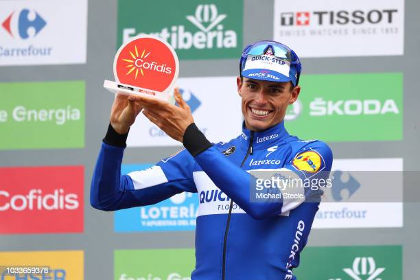 Podium / Enric Mas of Spain and Team QuickStep Floors Best Young Rider / Celebration / during the 73rd Tour of Spain 2018 Stage 20 a 973km stage from...