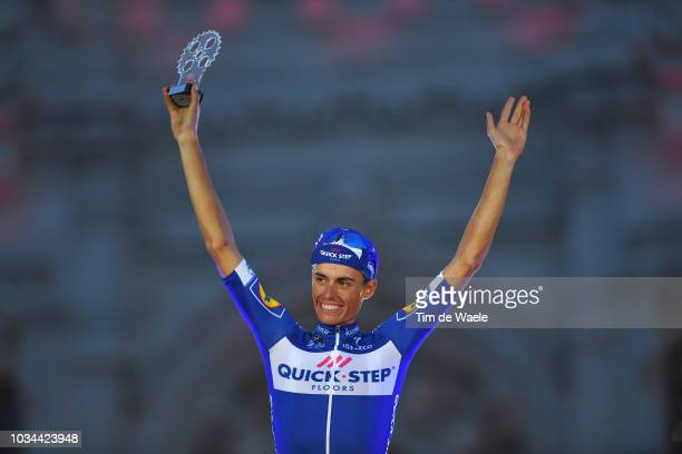 Podium / Enric Mas of Spain and Team QuickStep Floors Best Young Rider Celebration / during the 73rd Tour of Spain 2018 Stage 21a 1009km stage from...