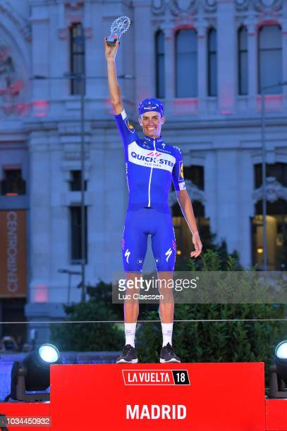 Podium / Enric Mas of Spain and Team QuickStep Floors Best Young Rider / Celebration / Madrid Town Hall / Plaza Cibeles / during the 73rd Tour of...