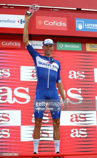 Podium / Enric Mas of Spain and Team QuickStep Floors Best Young / Celebration / during the 73rd Tour of Spain 2018 Stage 6 a 1557km stage from...