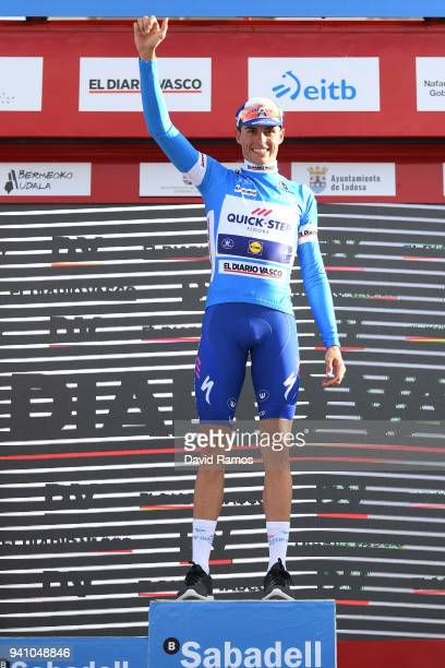 Podium / Enric Mas of Spain and Team QuickStep Floors Blue Young Jersey / Celebration / during the 58th Vuelta Pais Vasco 2018 Stage 1 a 1621km stage...