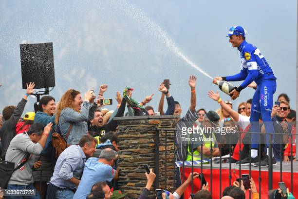 Podium / Enric Mas of Spain and Team QuickStep Floors Celebration / Champagne / Fans / Public / during the 73rd Tour of Spain 2018 Stage 20 a 973km...