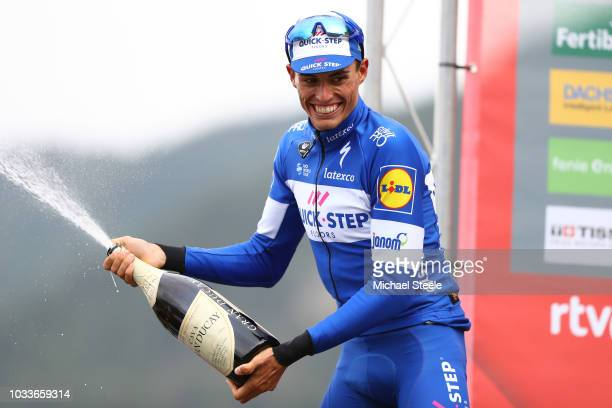 Podium / Enric Mas of Spain and Team QuickStep Floors Celebration / Champagne / during the 73rd Tour of Spain 2018 Stage 20 a 973km stage from...