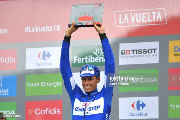 Podium / Enric Mas of Spain and Team QuickStep Floors Celebration / during the 73rd Tour of Spain 2018 Stage 20 a 973km stage from EscaldesEngordany...