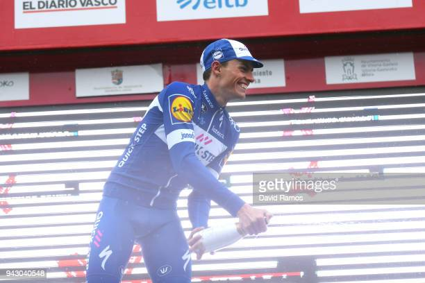 Podium / Enric Mas of Spain and Team QuickStep Floors / Celebration / Champagne / during the 58th Vuelta Pais Vasco 2018 Stage 6 a 1222km stage from...