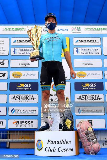 Podium / Fabio Felline of Italy and Astana Pro Team / Celebration / Champagne / during the 17th Memorial Marco Pantani 2020 a 199,8km race from...