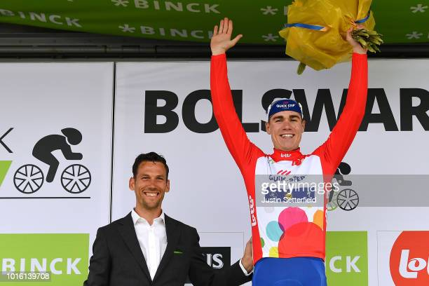 Podium / Fabio Jakobsen of Netherlands and Team Quick Step Floors Red Points Jersey / Celebration / during the 14th BinckBank Tour 2018, Stage 1 a...