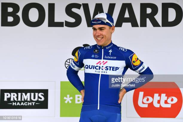 Podium / Fabio Jakobsen of Netherlands and Team Quick Step Floors / Celebration / during the 14th BinckBank Tour 2018, Stage 1 a 177,3km stage from...