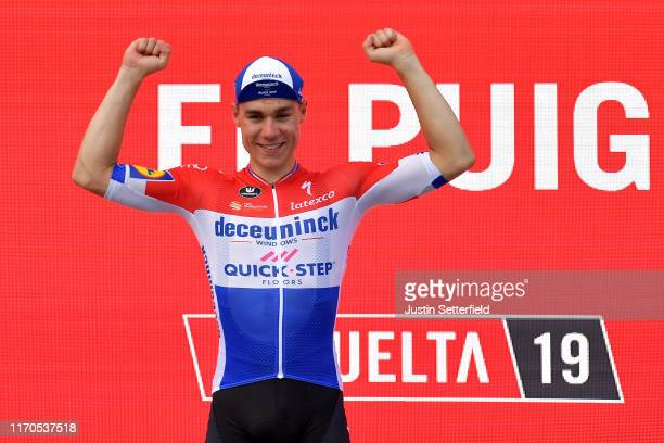 Podium / Fabio Jakobsen of The Netherlands and Team Deceuninck-QuickStep / Celebration / during the 74th Tour of Spain 2019, Stage 4 a 175,5km stage...