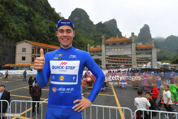 Podium / Fabio Jakobsen of The Netherlands and Team QuickStep Floors Blue Sprint Jersey / Celebration / Public / during the 2nd Tour of Guangxi 2018...