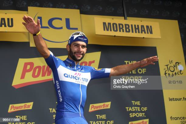 Podium / Fernando Gaviria of Colombia and Team QuickStep Floors / Celebration / during the 105th Tour de France 2018 Stage 4 a 195km stage from La...