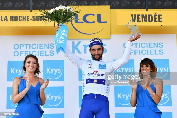 Podium / Fernando Gaviria of Colombia and Team QuickStep Floors White Best Young Jersey / Celebration / during the 105th Tour de France 2018 Stage 2...