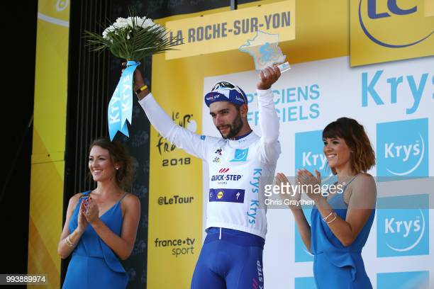 Podium / Fernando Gaviria of Colombia and Team Quick-Step Floors White Best Young Jersey / Celebration / during the 105th Tour de France 2018, Stage...
