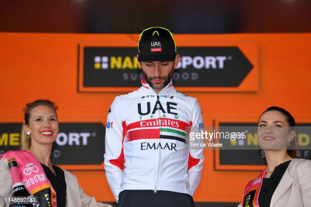 Podium / Fernando Gaviria Rendon of Colombia and UAE Team Emirates / Celebration / Miss / during the 102nd Giro d'Italia 2019 Stage 3 a 220km stage...
