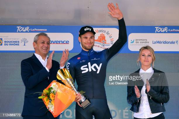 Podium / Filippo Ganna of Italy and Team Sky / Celebration / during the 4th Tour de La Provence 2019 Stage 1 a 89km Individual Time Trial stage from...