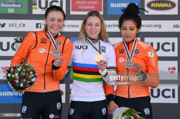 Podium / Fleur Nagengast of The Netherlands and Team The Netherlands Silver Medal / Inge Van Der Heijden of The Netherlands and Team The Netherlands...
