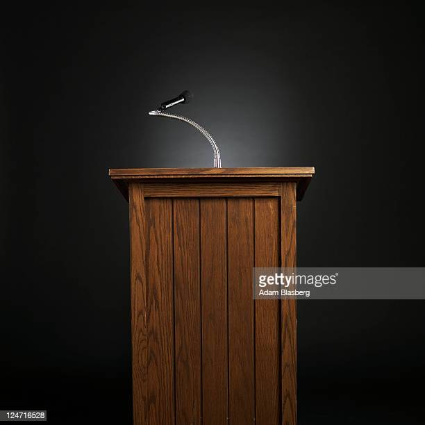 Podium for lecture