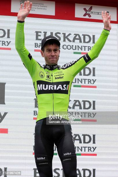 Podium / Garikoitz Bravo of Spain and Team Euskadi Basque Country Murias Polka Dot Mountain Jersey / Celebration / during the 59th ItzuliaVuelta...