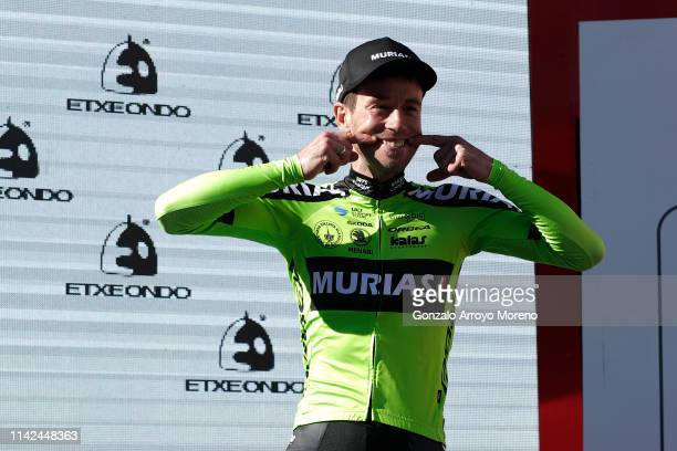 Podium / Garikoitz Bravo of Spain and Team Euskadi Basque Country - Murias Most Combative Rider / Celebration / during the 59th Itzulia-Vuelta...