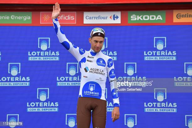 Podium / Geoffrey Bouchard of France and Team AG2R La Mondiale Polka Dot Mountain Jersey / Celebration / during the 74th Tour of Spain 2019, Stage 19...