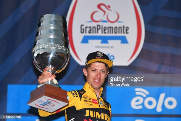 Podium / George Bennett of New Zealand and Team Jumbo-Visma / Celebration / Trophy / during the 104th Giro del Piemonte 2020 a 187km race from Santo...