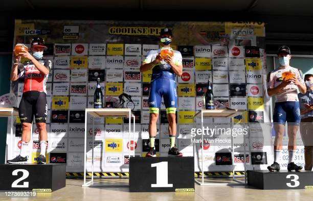 Podium / Gerben Thijssen of Belgium and Team Lotto Soudal / Danny Van Poppel of The Netherlands and Team Circus - Wanty Gobert / Arvid De Kleijn of...