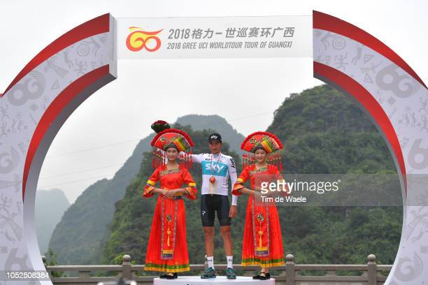 Podium / Gianni Moscon of Italy and Team Sky Celebration / during the 2nd Tour of Guangxi 2018 Stage 4 a 1522km stage from Nanning to Mashan...
