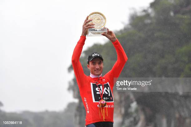 Podium / Gianni Moscon of Italy and Team Sky Red Leader Jersey / Celebration / during the 2nd Tour of Guangxi 2018 Stage 6 a 169km stage from Guilin...