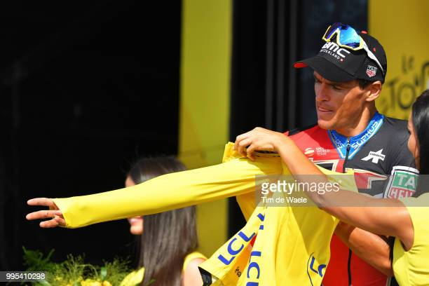Podium / Greg Van Avermaet of Belgium and BMC Racing Team Yellow Leader Jersey / Celebration / during the 105th Tour de France 2018 Stage 4 a 195km...