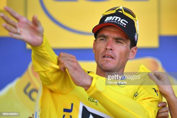 Podium / Greg Van Avermaet of Belgium and BMC Racing Team Yellow Leader Jersey / Celebration / during the 105th Tour de France 2018 Stage 9 a 1565...