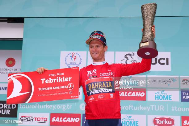 Podium / Grega Bole of Slovenia and Team Bahrain Merida Red Mountain Jersey / Celebration / during the54th Presidential Cycling Tour Of Turkey Stage...