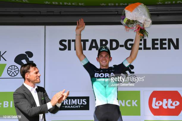 Podium / Gregor Muhlberger of Austria and Team Bora-Hansgrohe / during the 14th BinckBank Tour 2018, Stage 6 a 182,2km stage from Riemst to...
