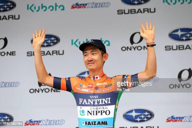 Podium / Hideto Nakane of Japan and Team Nippo Vini Fantini - Faizane Asian Rider Classification / Celebration / during the 28th Japan Cup 2019,...