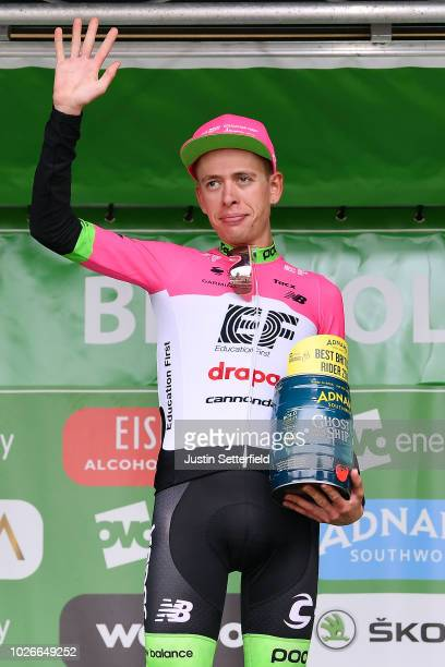 Podium / Hugh Carthy of Great Britain and Team EF Education First-Drapac p/b Cannondale Brithis Rider / Celebration / during the 15th Tour of Britain...