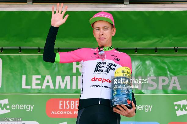 Podium / Hugh Carthy of Great Britain and Team EF Education FirstDrapac p/b Cannondale Brithis Rider / Celebration / during the 15th Tour of Britain...