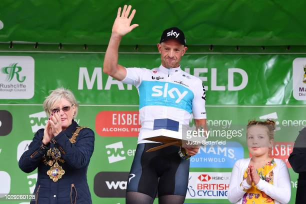 Podium / / Ian Stannard of Great Britain and Team Sky / Celebration / during the 15th Tour of Britain 2018 Stage 7 a 2156km stage from West Bridgford...