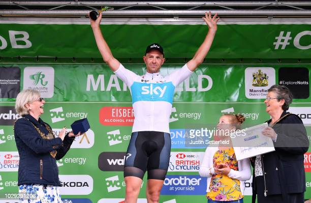 Podium / Ian Stannard of Great Britain and Team Sky / Celebration / during the 15th Tour of Britain 2018 Stage 7 a 2156km stage from West Bridgford...