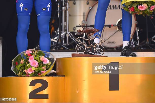 Podium / Illustration / Philippe Gilbert of Belgium and Team Quick-Step Floors / Niki Terpstra of The Netherlands and Team Quick-Step Floors /...
